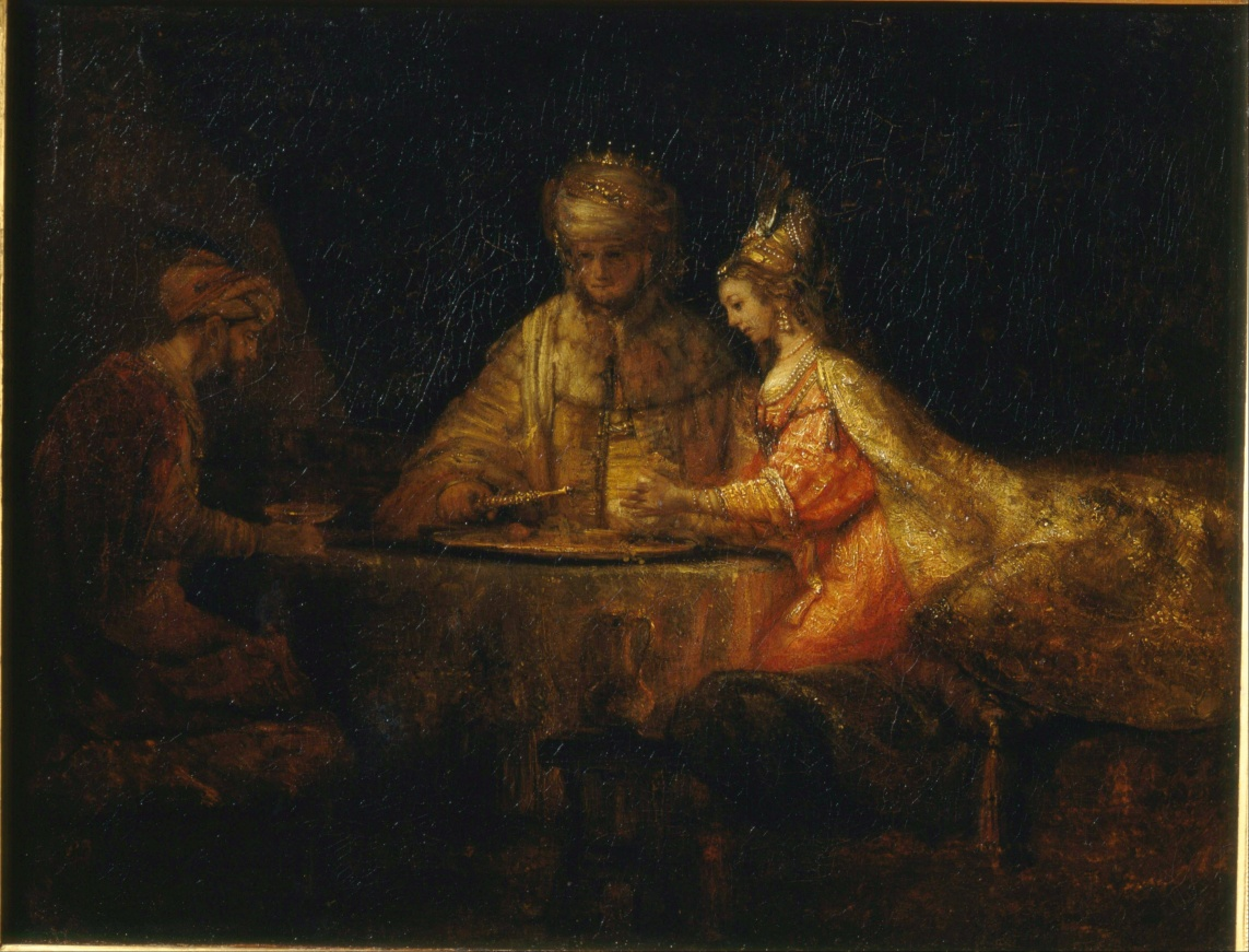 Ahaseurus and Haman at Esther's Feast