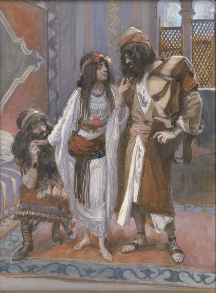 The Harlot of Jericho and the Two Spies (James Tissot)